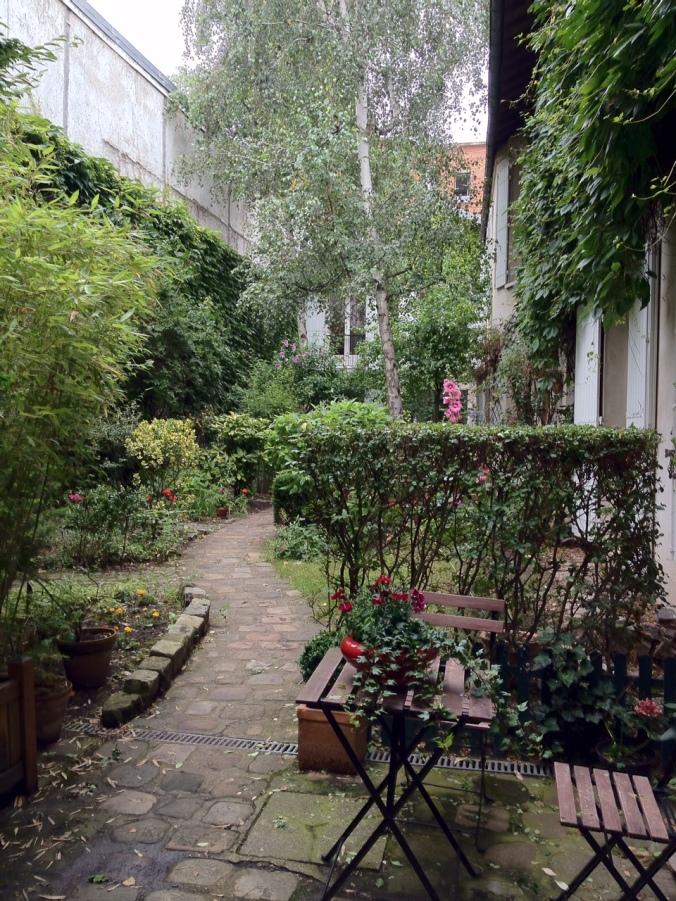 "The courtyard of Daniel's and Sasha's ""niz d'amour."""